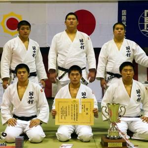 第35回若潮杯争奪武道大会、男子優勝の国士舘高校
