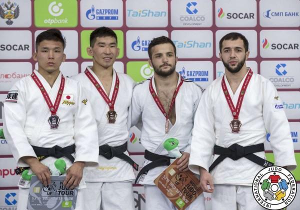 -60kg medalists of Ekaterinburg Judo Grand Slam 2019