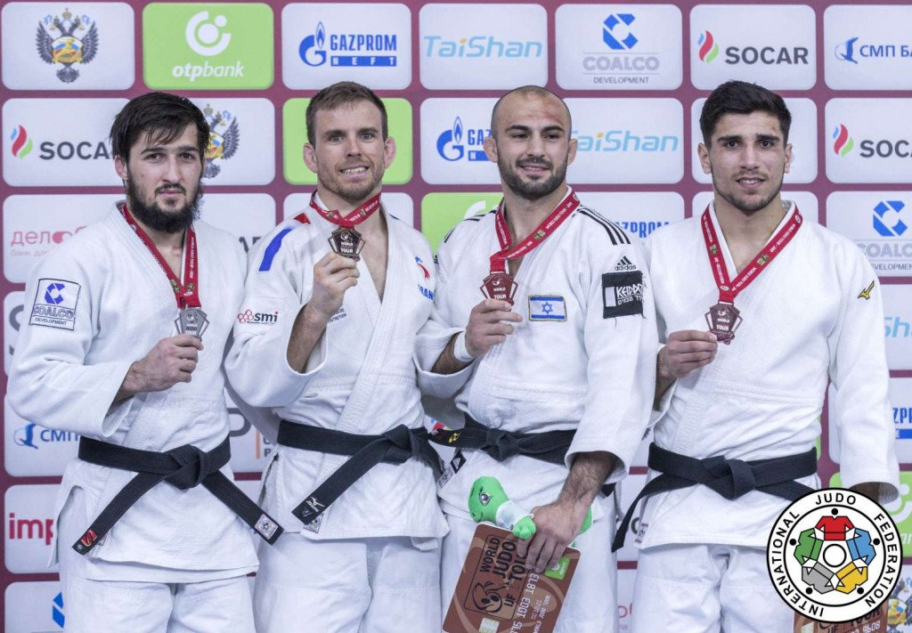 -66kg medalists of Ekaterinburg Judo Grand Slam 2019