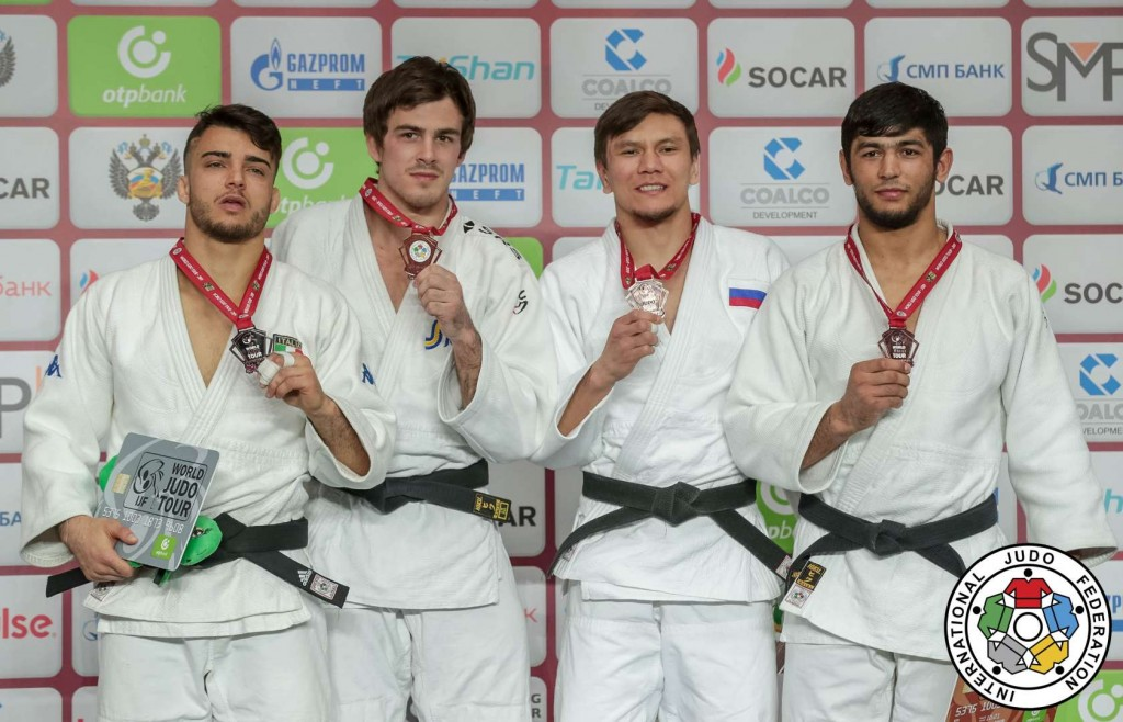 -73kg medalists of Ekaterinburg Judo Grand Slam 2019