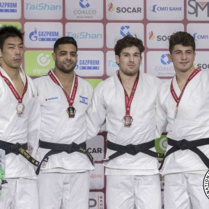 -81kg medalists of Ekaterinburg Judo Grand Slam 2019