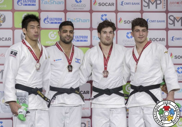 -81kg medalists of Ekaterinburg Judo Grand Slam 2019