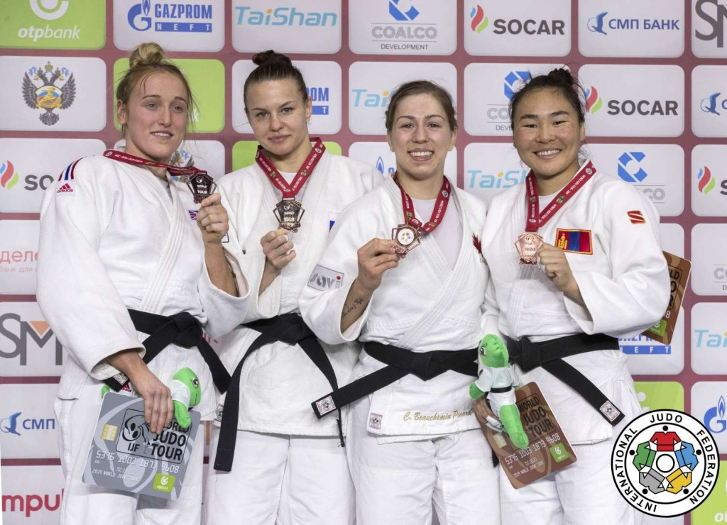 -63kg medalists of Ekaterinburg Judo Grand Slam 2019