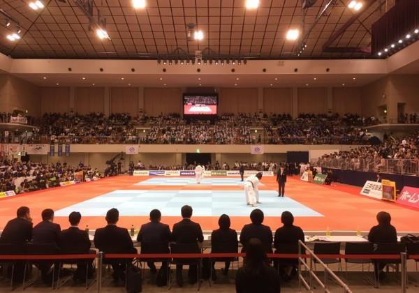 平成31年全日本選抜柔道体重別選手権、1回戦が進行中