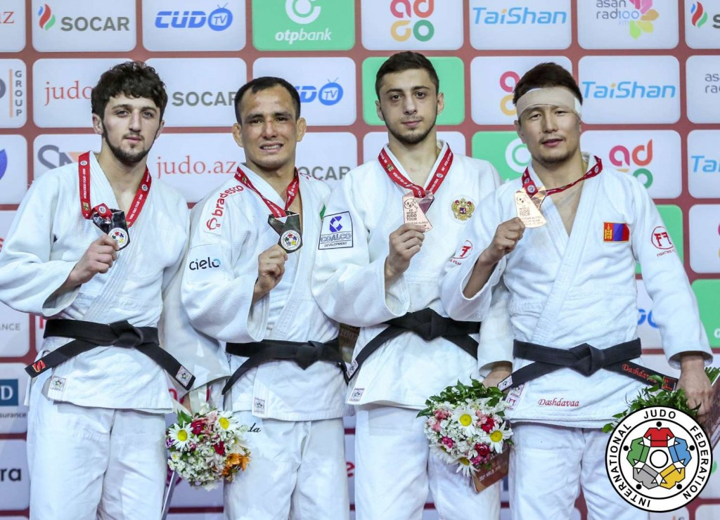 -60kg medalists at Judo GS BAKU 2019