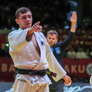 グランドスラム・バクー2019、66kg級優勝のデニス・ヴィエル。今季ワールドツアー3つ目、グランドスラム大会2つ目のタイトル獲得を果たした。