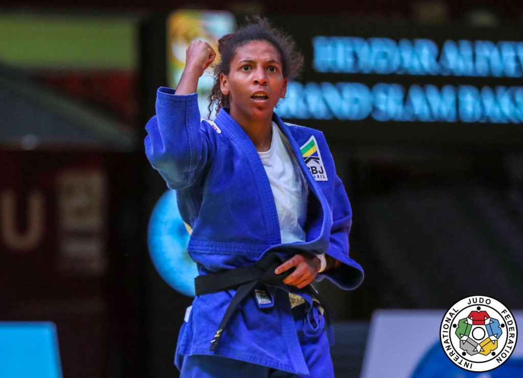 Rafaela Silva won -57kg with a great performance at Judo GS BAKU 2019