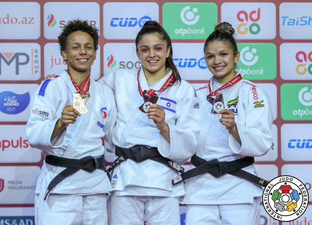 -52kg medalists at Judo GS BAKU 2019