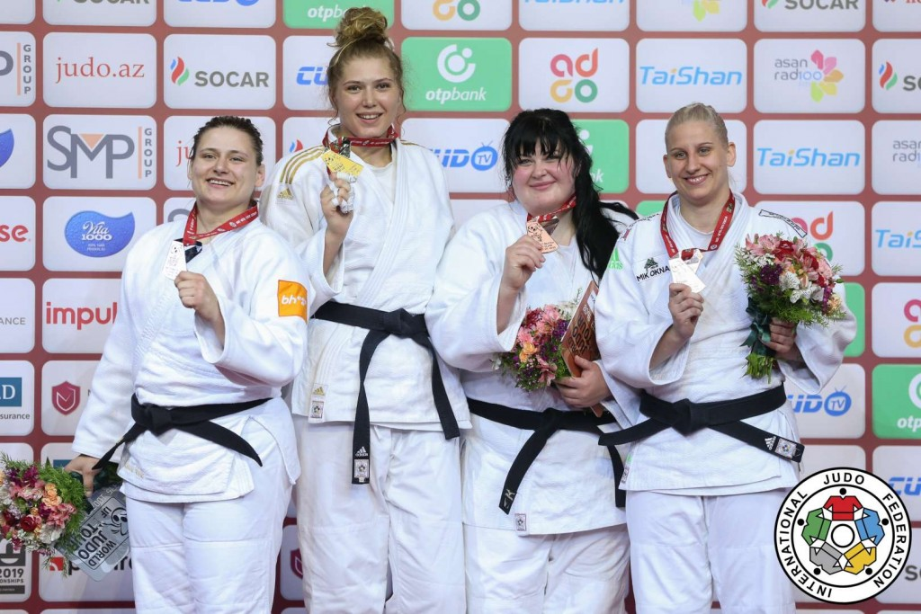 +78kg medalists at Judo GRAND SLAM BAKU 2019