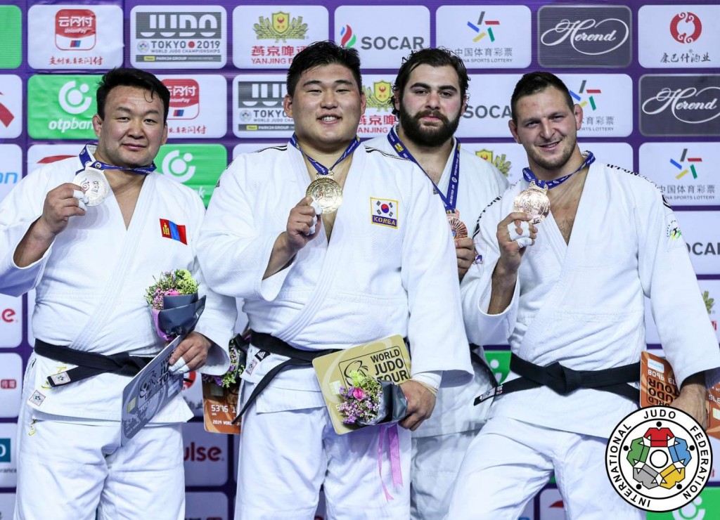 Judo Grand Prix hohhot 2019, +100kg medalists