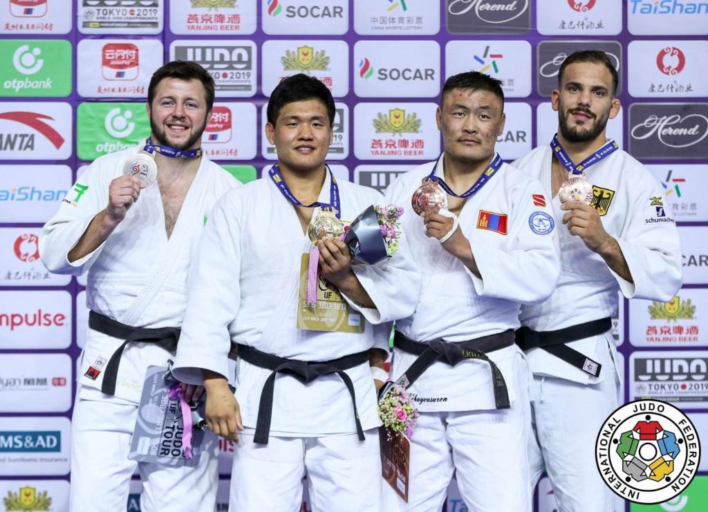 Judo Grand Prix hohhot 2019, -100kg medalists