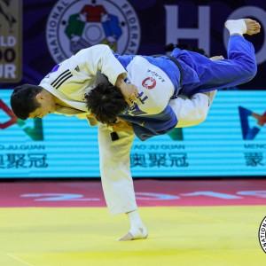 -60kg Final, Kim throws Yang with Uchi-mata at Judo Grand Prix Hohhot 2019