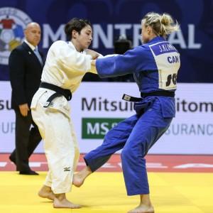 柔道グランプリ・モントリオール2019、57kg級決勝は地元対決。出口クリスタとジェシカ・クリムカイト。