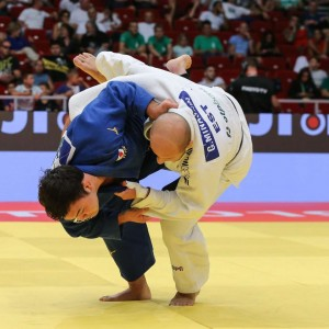 柔道グランプリ・ブダペスト2019、100kg級決勝、ウルフアロンがグリゴリ・ミナシキンから内股「一本」