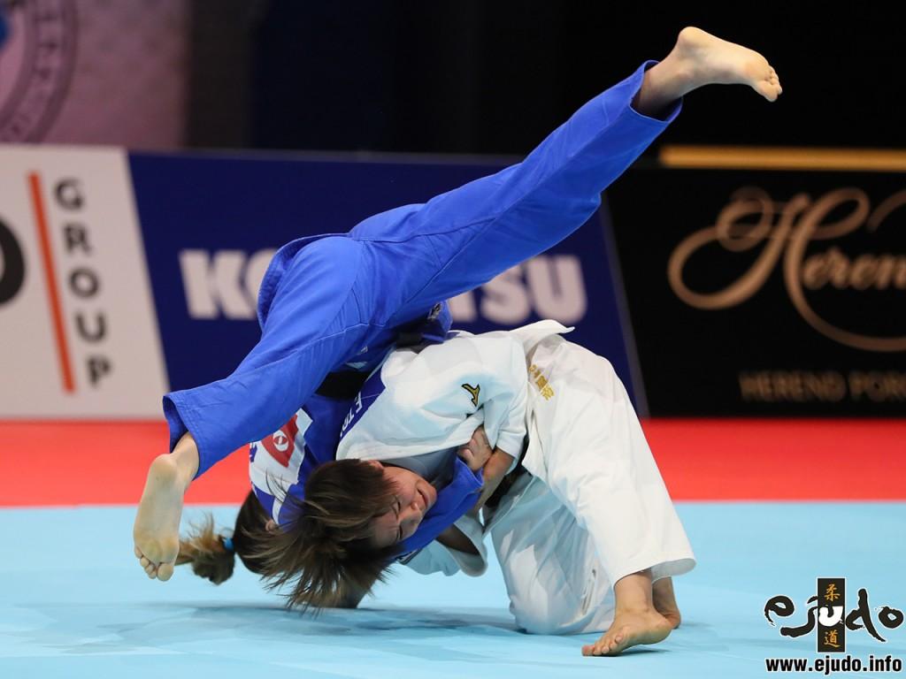 東京世界柔道選手権2019女子48kg級準決勝、渡名喜風南がディストリア・クラスニキから袖釣込腰「一本」