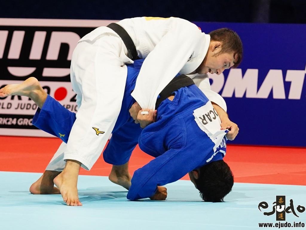 東京世界柔道選手権男子60kg級3位決定戦髙藤が隅落「技有」で一時は決定的なリード