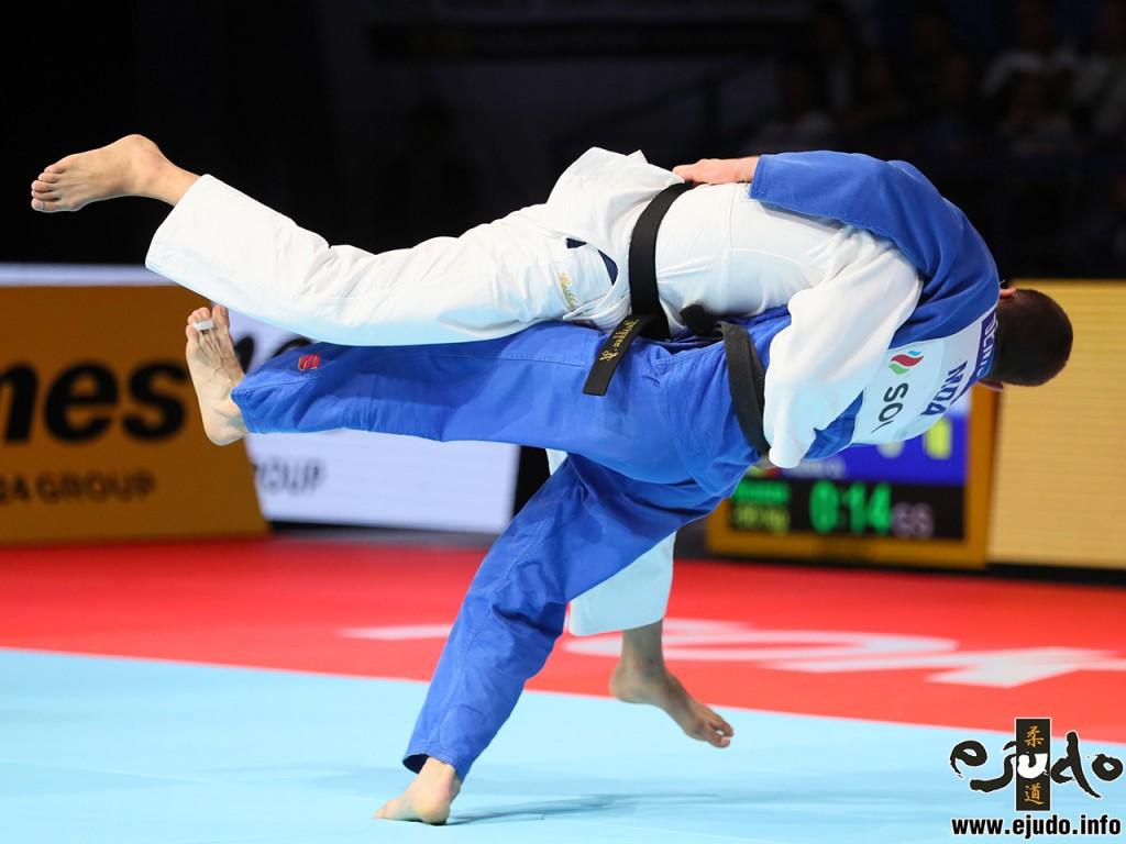 東京世界柔道選手権2019男子73kg級3位決定戦、デニス・ヴィエルがヨンドンペレンレイ・バスフーから内股「一本