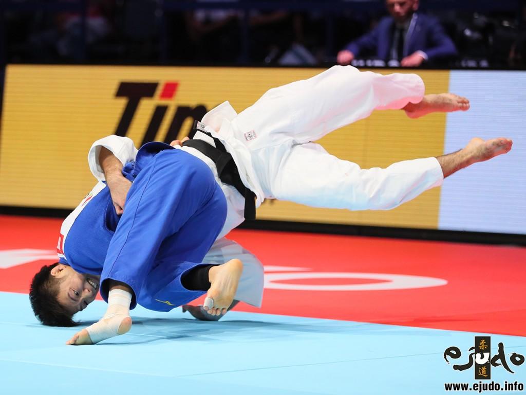 東京世界柔道選手権2019男子73kg級3位決定戦、阿部一二三がマニュエル・ロンバルドから釣腰「一本」