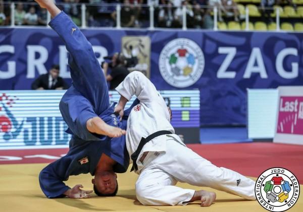 柔道グランプリ・ザグレブ2019、100kg超級決勝、ゲラ・ザアリシヴィリが原沢久喜から帯取返「一本」