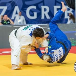 柔道グランプリ・ザグレブ2019、78kg超級準々決勝、素根輝がアナマリ・ヴェレンセクから体落「一本」