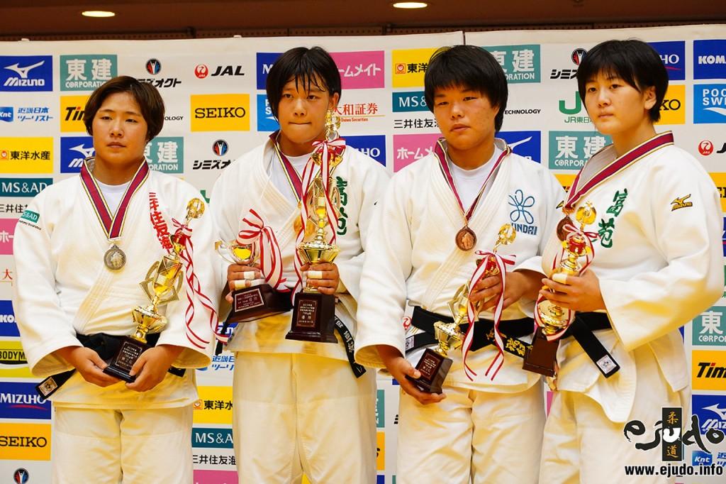 左から和田梨乃子、黒田亜紀、長谷川瑞紀、平野友萌