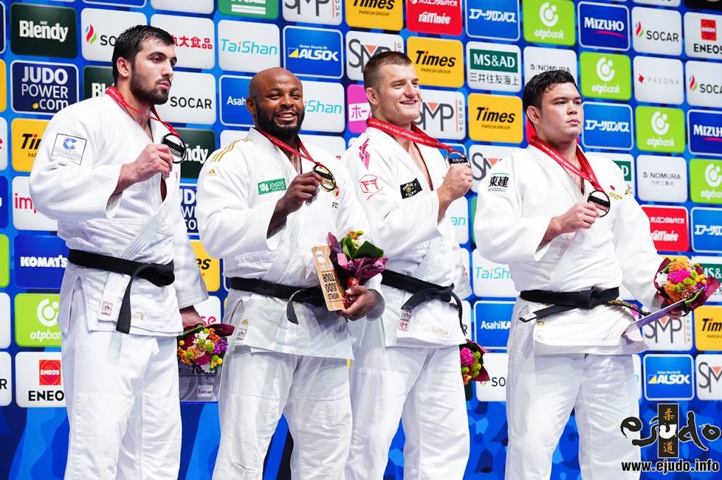 -100kg medalists at World Judo Chamionships 2019 TOKYO