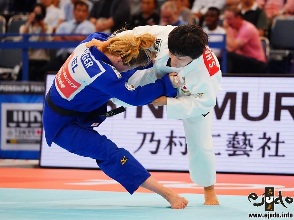 3回戦、濵田尚里がソフィ・ベルガーから大内刈「一本」