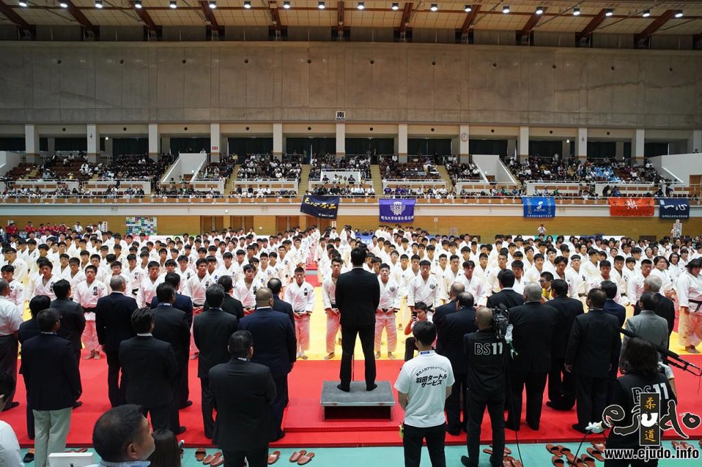 2019年度全日本学生柔道体重別選手権、開会式。