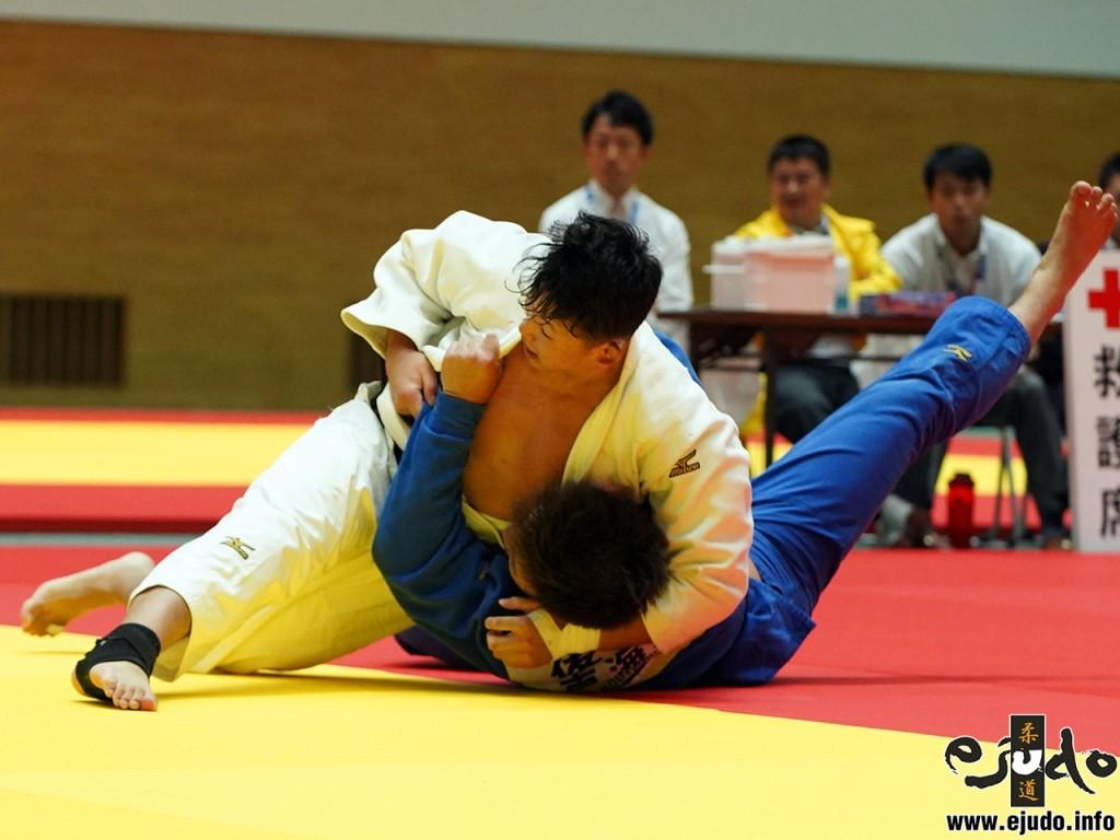 100kg級決勝、山口貴也が後藤龍真から払腰「一本」