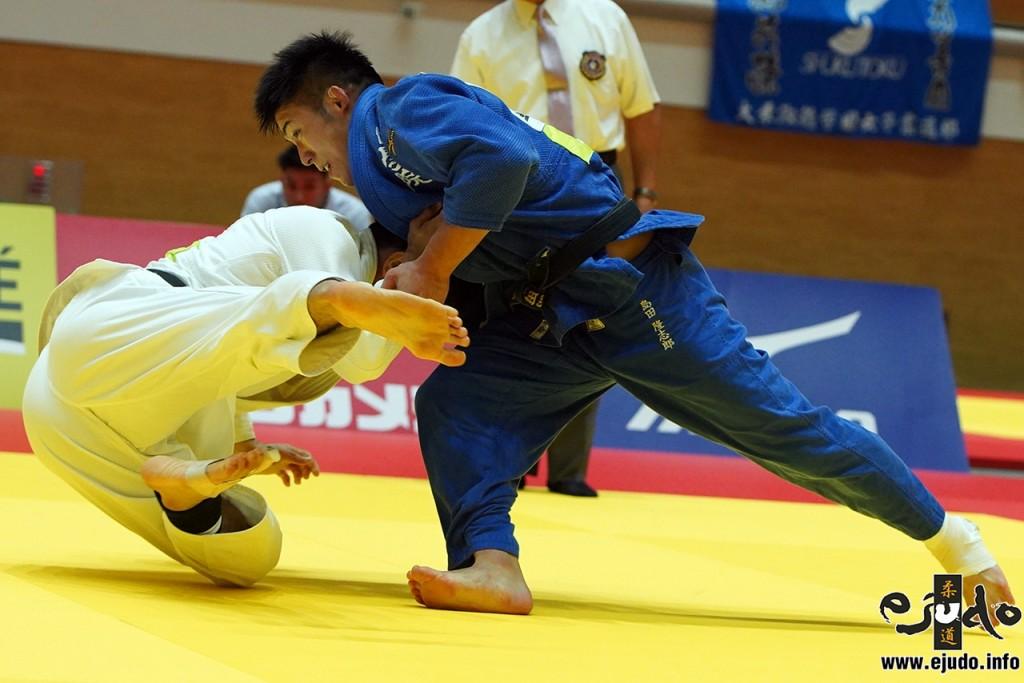 73kg級決勝、島田隆志郎が大吉賢から送足払「技有」