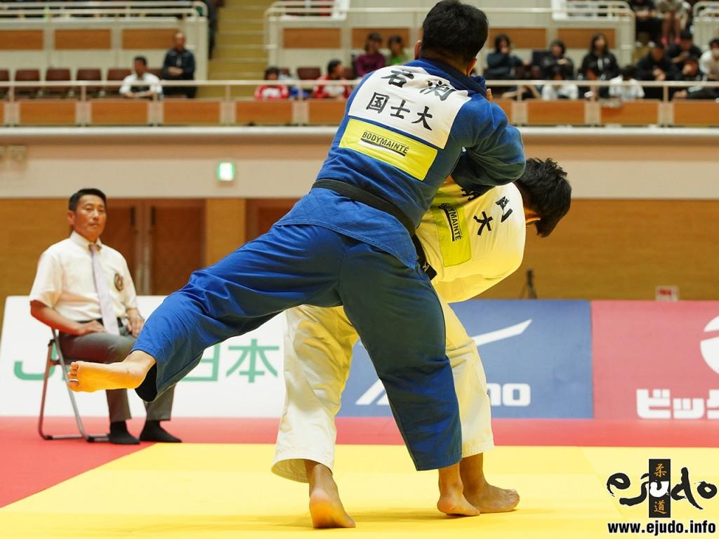 90kg級決勝、増山香補が岩渕晃大から背負投「一本」