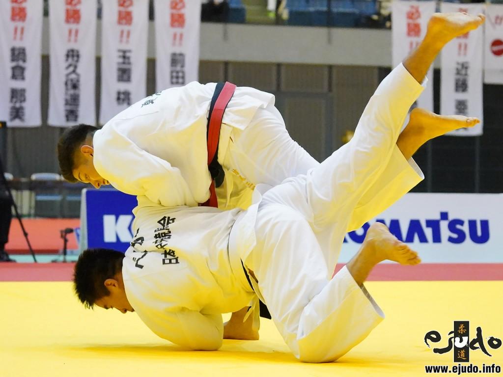 90kg級決勝、村尾三四郎がベイカー茉秋から左内股「技有」