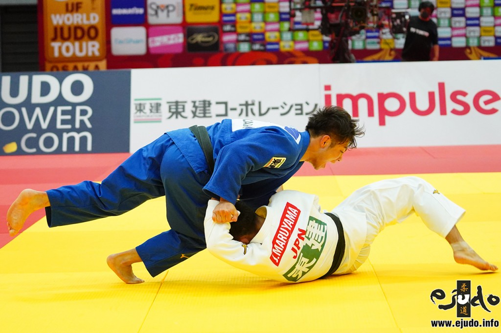 66kg級決勝、阿部一二三が丸山城志郎から内股返「技有」