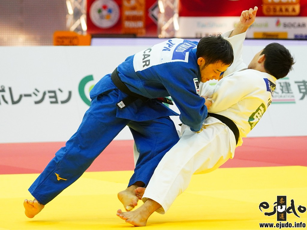 60kg級決勝、髙藤直寿が永山竜樹から小内刈「技有」