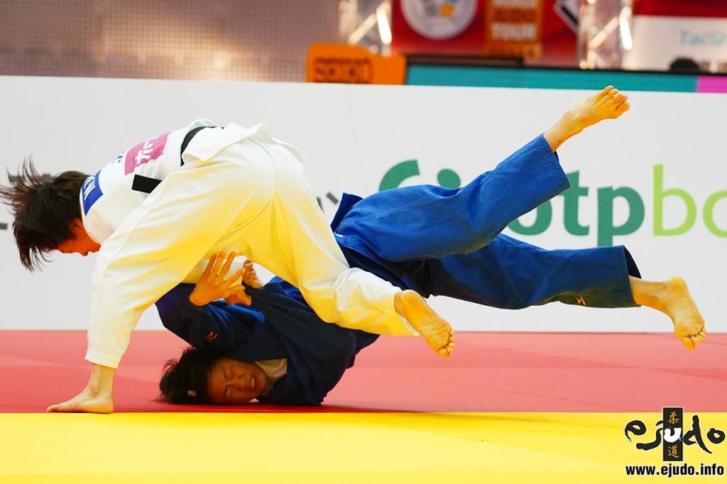 57kg級決勝、玉置桃がレン・チェンリンから内股透「技有」