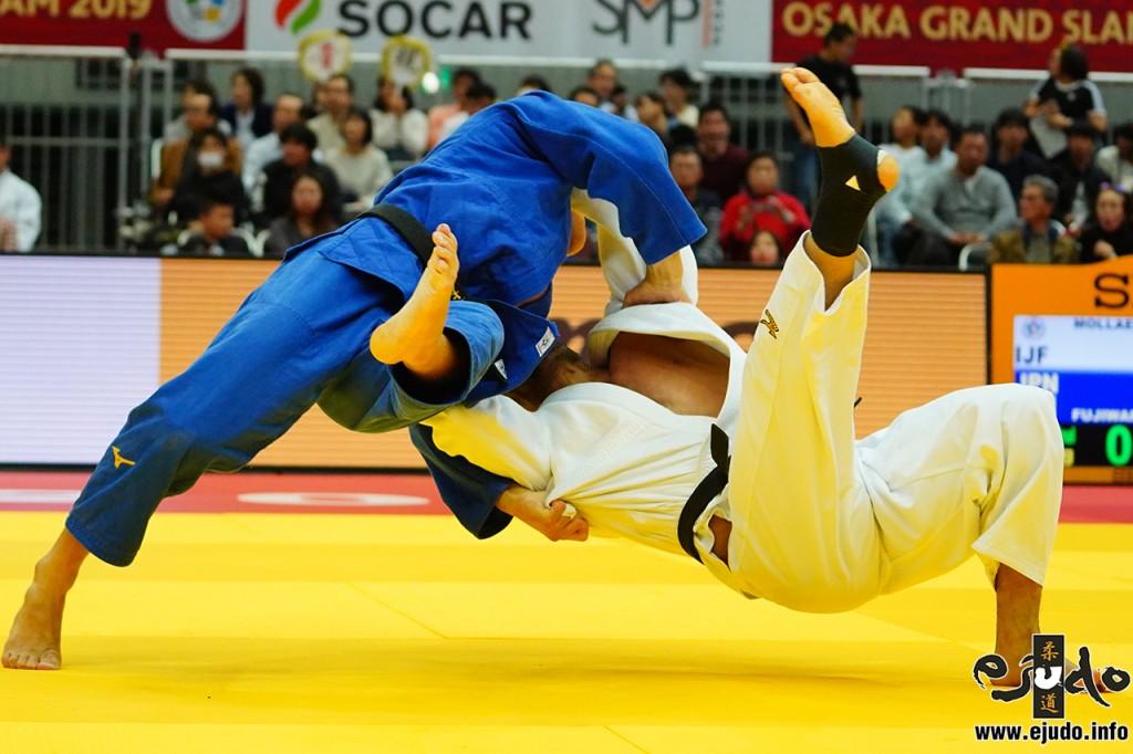 81kg級準々決勝、藤原崇太郎がサイード・モラエイから支釣込足「一本」
