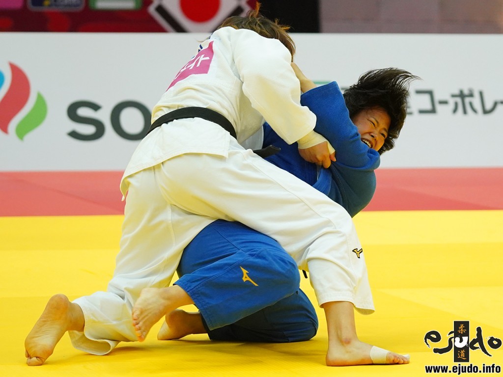 78kg級決勝、梅木真美が濵田尚里から隅落「一本」